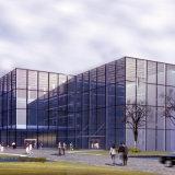 Mur rideau en verre de bâti en aluminium économiseur d'énergie