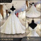 Изготовленные кружева Appliqued шарик платье тюль свадебные платья