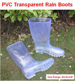 Laars van de Regen van pvc van de Manier van China de Nieuwe, de Transparante Laarzen van Vrouwen, de Laars van de Regen