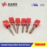 Flautas Ballnose carburo de tungsteno 2/4 Final molino con HRC45-68