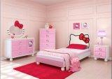 A mobília do quarto das crianças da vaquinha da cor-de-rosa olá! ajustou o quarto 2017 de madeira o mais novo (artigo No#159)