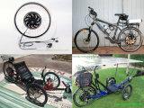 Goldener Bewegungselektrischer Fahrrad-Konvertierungs-Installationssatz 24V/36V/48V500W1000W