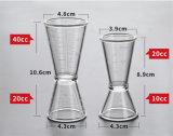 Doble de las onzas de la resina de la PC - doble de la taza - vidrio de medición principal para 20-40cc