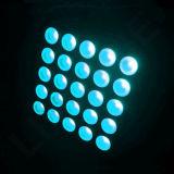 Indicatore luminoso dei paraocchi della tabella delle teste 3in1 LED di RGBW 5X5 cel 30W 25
