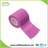 Fasciatura coesiva non tessuta di vari colori del certificato con il campione libero