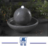 Natürliche Granit/der Marmor, der Wasser-Brunnen/Kugel schnitzt, passen grauen Kugel-Brunnen des Granit-G603 für im Freien Dekoration-Garten/Wand/im Freien/Yard/Piazza an