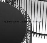 強くされたガラス黒い円形の茶表(M-X3775)