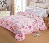 Оптовым выбитое высоким качеством одеяло норки Raschel акриловое