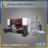 Máquina que raja de alta velocidad del papel revestido de los PP con el cargamento de Shaftless