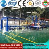 Machine à cintrer de roulement de plaque d'acier inoxydable de quatre rouleaux pour la chaîne de production de tour de vent