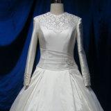 Neues Arabisch konzipiert lange Hülsen-Dubai-moslemische Hochzeits-Kleid-Kleider