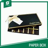 Rectángulo de empaquetado del papel hecho a mano del chocolate de encargo de la cartulina