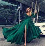 Vestito da sera spaccato del cocktail di Vestidos dell'abito di promenade del Partito Verde P16083