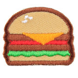 Customized Hamburger Donut Shape emblema bordado