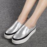 Venda a quente mulheres calçado de couro Calçado de plataforma (FTS1019-26)