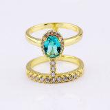 Los anillos de dedo chapado en oro negro de los anillos de diseño simple
