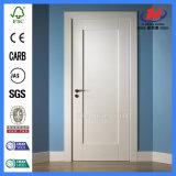 Portas brancas lisas interiores de madeira da primeira demão do núcleo contínuo (JHK-001)
