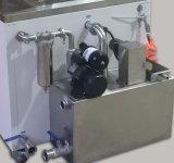 Líquido de limpeza ultra-sônico industrial tenso com plataforma/agitação/isolação/pistola pneumática de levantamento