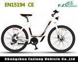 Bicicletta elettrica di disegno d'avanguardia per la signora