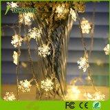 1.5W 40 LED Weihnachtsschneeflocke-feenhafte Lichter wärmen weißes Zeichenkette-Licht der USB-2900K Unterseiten-16FT/5m LED