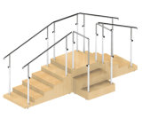 Лестница реабилитации для ребенка с 2 поручнями