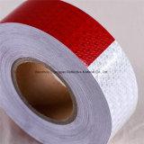 Bandes r3fléchissantes de PVC de sûreté blanche et rouge de DOT-C2 pour le camion