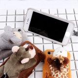 iPhone 7/7plus/8/8plusのための漫画のMengのペットの人形のプラシ天の電話箱