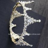 2018の最も新しいカスタマイズされた水晶王冠の結婚式のガラスStonneのクリスマス・パーティのギフトのバロック式のティアラの花嫁の王冠(BC-09)