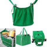 Non-Woven折るRecylcledのトロリースーパーマーケットの食料品の買い物のカート袋