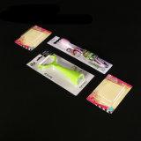 プリント紙カードと包む透過ヒートシールされたまめ