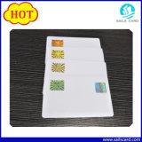 La carte ou le Smart Card d'identification de PVC avec l'hologramme a recouvert pour l'Anti-Article truqué