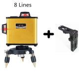 8 Line Self-service Leveling Red Beam Laser Bracket Level
