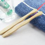 Nova cabeça de cerdas macias natural ao redor do material de bambu de dentes da alavanca