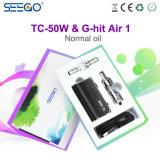 De g-Klap van Seego Lucht 1 & tc-50W de Nieuwste Uitrusting van de Sigaret van het Ontwerp Roestvrije Elektronische
