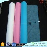 Matériau non-tissé de Spunbond pour le rideau en hôpital, tissu médical