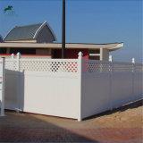 Haute qualité de la vie privée à l'extérieur Jardin clôture PVC avec résistance aux UV
