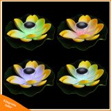 庭のプールの池の噴水の装飾の太陽ランプのための浮遊ロータス太陽軽い夜花ランプ