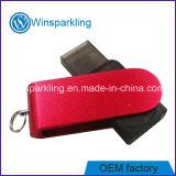 Verkaufsschlager-Plastikschwenker USB-Flash-Speicher-Firmenzeichen