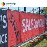 Digital-Drucken-Zaun-Ineinander greifen-Fahne, Fahnen-Entwurf bekanntmachend, Polygewebe-Ineinander greifen-Fahne