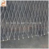階段安全保護ロープの網か新しいデザインによって編まれるロープケーブルの網