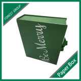 リボンが付いている熱い販売の緑のボール紙の装飾的なボックス