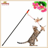 고양이 장난감 기털 (KB3056)를 가진 고아한 놀리는 사람 고양이 장난감
