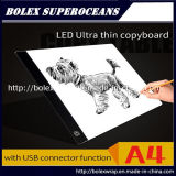 A4 LED ultradünner Verfolgungs-heller Kasten-Exemplar-Vorstand, der helle Auflage verfolgt