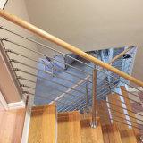 층계 부분적으로 지면 마운트 스테인리스 로드 방책
