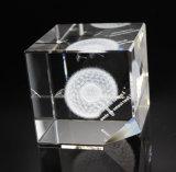 Diente de León 3D Cubo de cristal grabado láser de grabado y el bloque