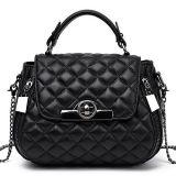 광저우 OEM 공장 Emg5204에서 유행 연약한 Bags Real Leather Women 격자 숙녀 핸드백 어깨에 매는 가방