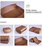 Одноразовые печатной платы бумаги Craft ланч-бокс упаковки продуктов питания