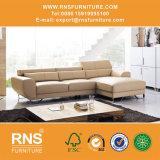 Chegada nova L sofá moderno 713# da sala de visitas do sofá do couro da forma