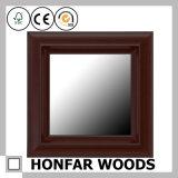 Hölzerner Brown-fertiger quadratischer Glasspiegel-Rahmen für Badezimmer-Dekor