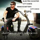 2単位との安い電気スクーターの熱い販売は電池を除去する
